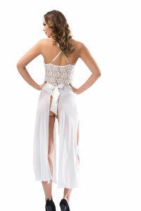 Uzun Beyaz Fantazi Gecelik Modelleri - Thumbnail