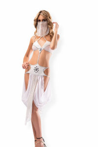 Beyaz Dansöz Fantazi Kostüm Modeli - Thumbnail
