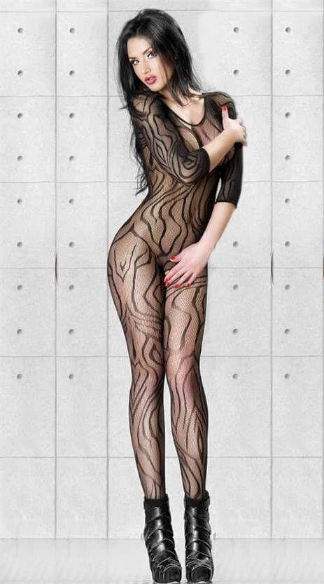 Desenli Erotik Vücut Çorabı