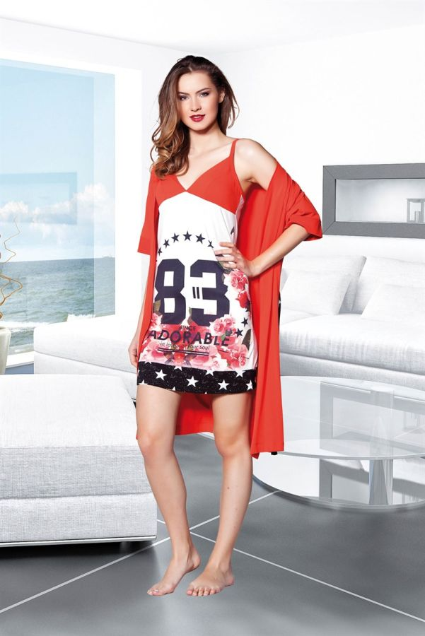 Kırmızı Dörtlü Pijama Takımı