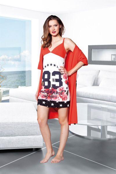 - Kırmızı Dörtlü Pijama Takımı