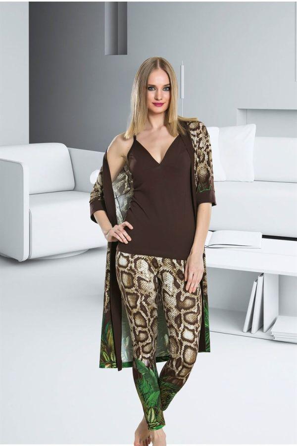 Seksi Siyah Dörtlü Pijama Takımı